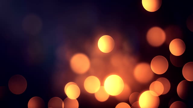 4k Abstract Bokeh Background Loop (Warm / Gold)