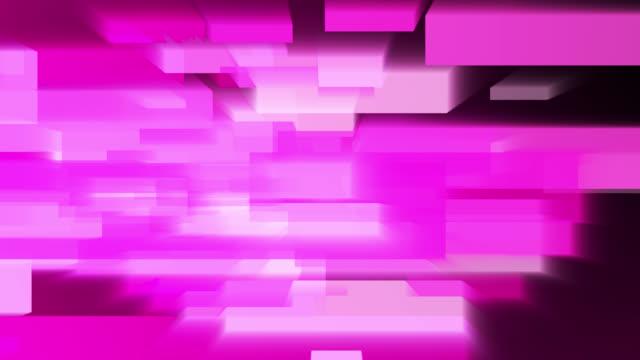stockvideo's en b-roll-footage met 4k abstract bedrijfstechnologie vierkant vormt roze achtergrond - magenta