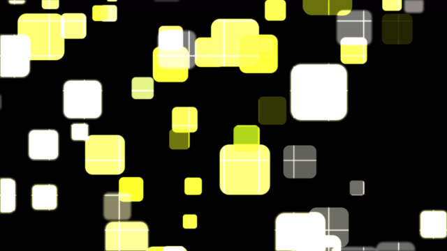 4k abstract business technology yellow square shapes black background - square shape stock videos & royalty-free footage