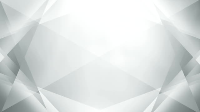 4k abstract geometry background loop (white / gray / silver) - white background stock videos & royalty-free footage