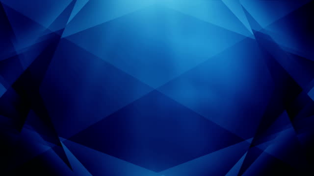 4k abstract geometry background loop (dark blue) - blue stock videos & royalty-free footage