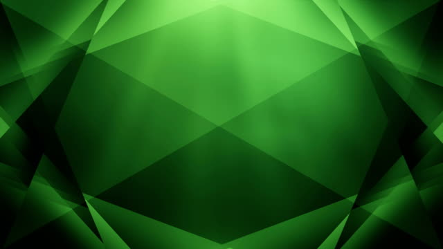4k Abstract Geometry Background Loop (Green)