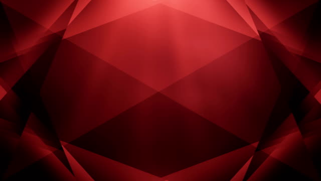 4k Abstract Geometry Background Loop (Red)