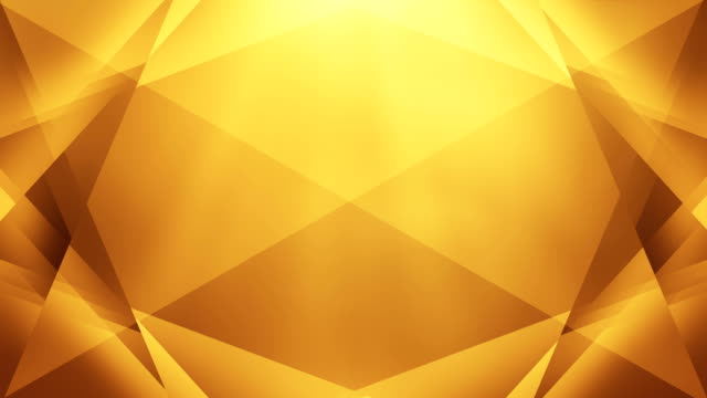 4k abstract geometry background loop (golden / yellow / orange) - awards ceremony stock videos & royalty-free footage