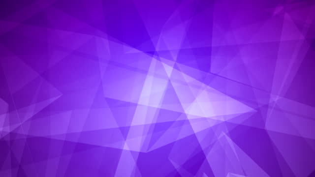 4k Abstract glowing futuristic, network, technology, science, celebration geometrical purple loopable background with triangles