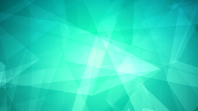 4k abstract glowing futuristic, network, technology, science, celebration geometrical turquoise loopable background with triangles - angle stock videos & royalty-free footage