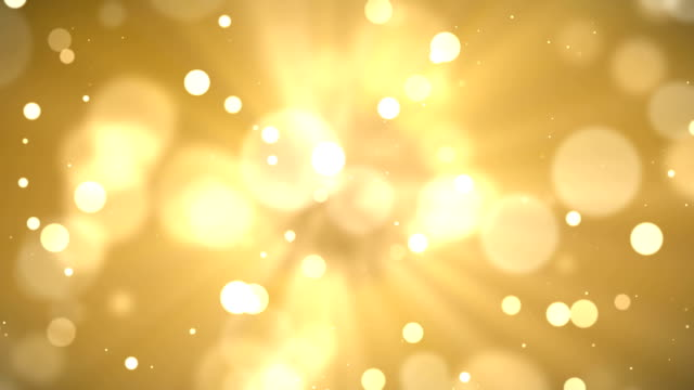 4k Abstract gold bokeh with snow