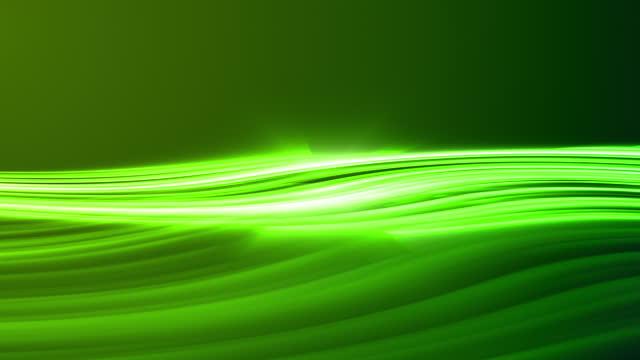4k抽象緑ネオン波線の背景 - design element点の映像素材/bロール