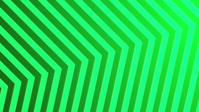 vídeos de stock e filmes b-roll de 4k abstract neon green light arrow direction on blackgroud - cor néon
