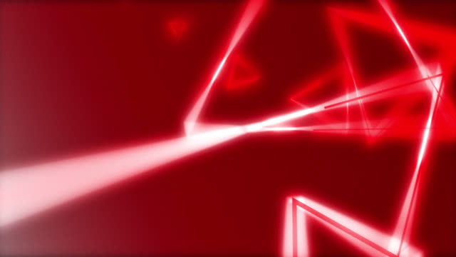 4k abstract neon red light triangle shape on red blackgroud - neon stock videos & royalty-free footage