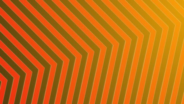 vídeos de stock e filmes b-roll de 4k abstract neon red orange light arrow direction on blackgroud - cor néon