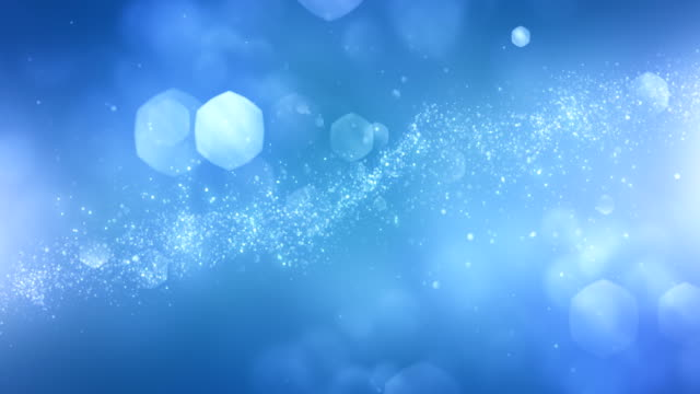 4k abstract particles (light blue) - background animation - loopable - science stock videos & royalty-free footage
