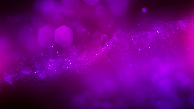 vídeos de stock e filmes b-roll de 4k abstract particles (purple) - background animation - loopable - purple