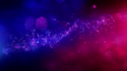 4k Abstract Particles (Red, Blue) - Background Animation - Loopable