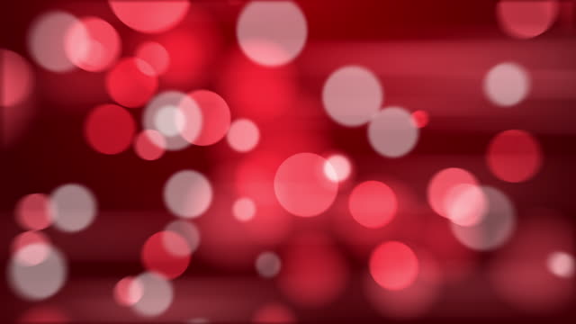 4k Abstract Red Color Bokeh Background. Seamless Loop