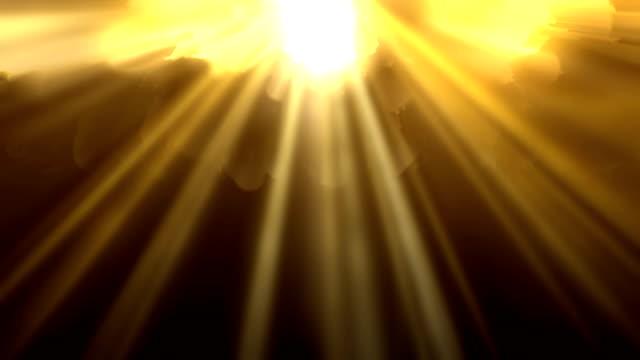 vidéos et rushes de 4k abstrait briller fond - loopable - stock vidéo stock - sunbeam