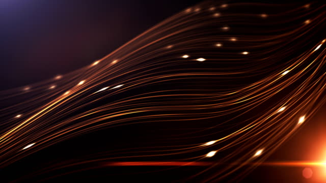 4k Abstract Technology Background (Gold / Orange / Yellow) - Loop