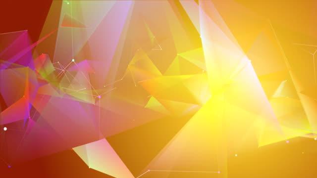 4 k abstrakte dreieck geometrie hintergrund loop - transparent stock-videos und b-roll-filmmaterial