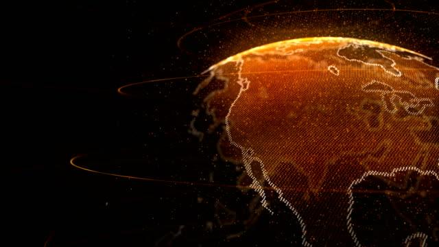 4k abstract turning globe loop - plexus stock videos & royalty-free footage