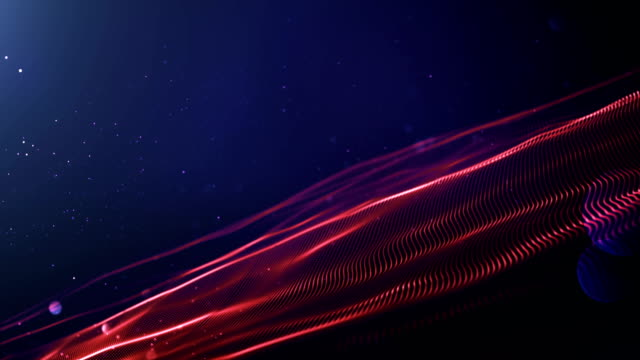 4k Abstract Wave Background Loop (Red, Blue)