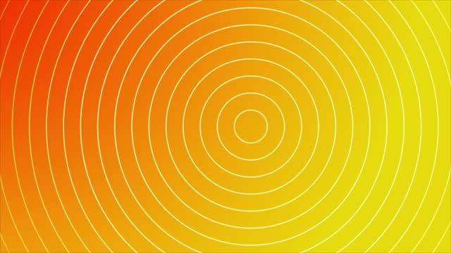 vidéos et rushes de fond abstrait d'or de cercle d'onde abstrait de 4k - hypnose