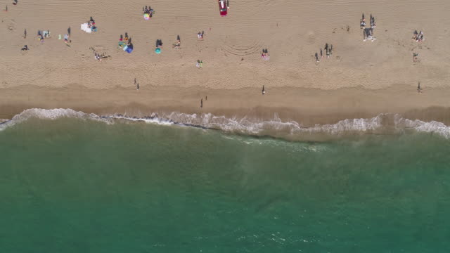 4k aerial of a beach in malibu, california - coastal feature stock videos & royalty-free footage