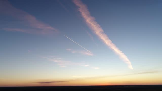 4k aerial of desert at sunset