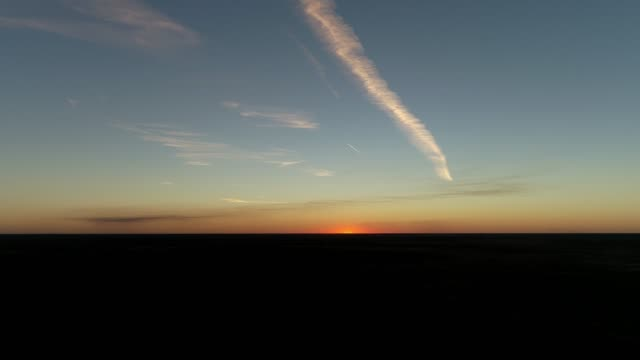 4k aerial of desert outback at sunset