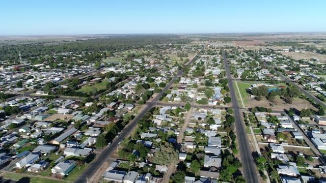4k aerial of town