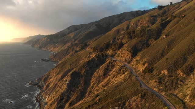 4k aerial video - big sur coastline california - coastline stock videos & royalty-free footage