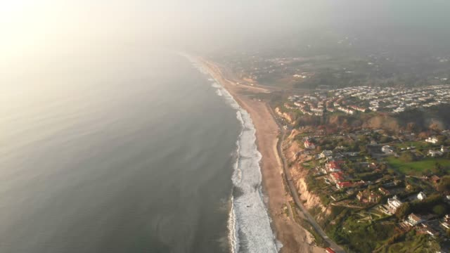 4k aerial video - malibu beach; point dume and zuma beach - malibu stock videos & royalty-free footage