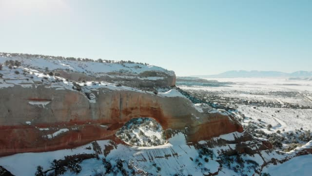 4k aerial video - monument valley desert at winter - native american reservation stock videos & royalty-free footage