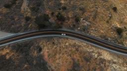 4k Aerial Video - TOP VIEW - Big Sur Coastline California