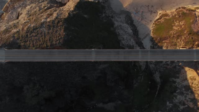 4k aerial video - top view - big sur coastline california - major road stock videos & royalty-free footage