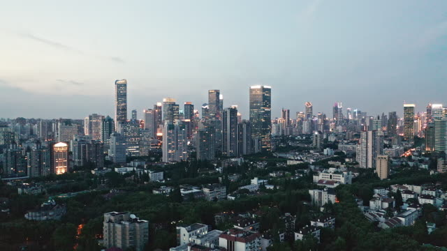 4k : aerial view of shanghai skyline - east china stock videos & royalty-free footage