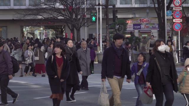 4k: Luftaufnahme von Shibuya Crossing, Tokio