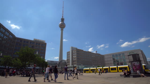 4k - alexanderplatz in berlin - alexanderplatz stock videos & royalty-free footage