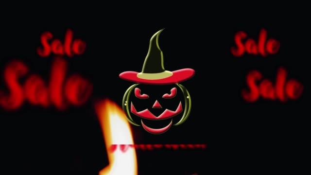 4k Animation : Halloween Pumpkin Sale