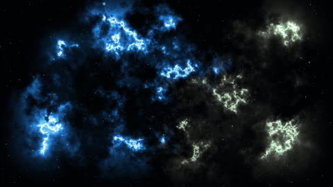 4k background video of stars are coming towards the viewer against a backdrop of clouds, gas, milky ways and nebulas in space - less than 10 seconds stock videos & royalty-free footage