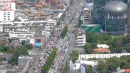 4k Bangkok cityscape with traffic
