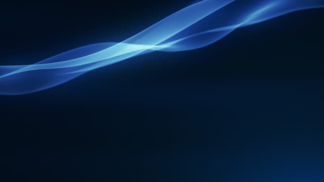 4k beautiful abstract wave background with copy space -blue, dark, top- loopable - curve stock videos & royalty-free footage