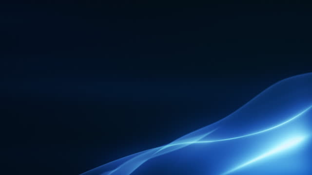 4k beautiful abstract wave background with copy space -blue, dark, corner- loopable - motion stock videos & royalty-free footage