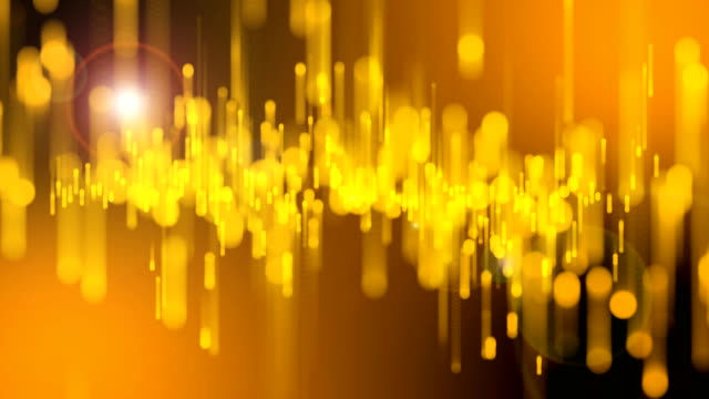 4k beautiful bokeh and light beams, gold particles background - grazia video stock e b–roll