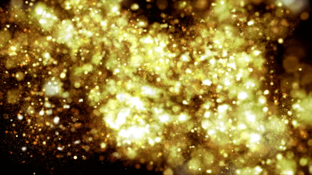 4k beautiful bokeh and light beams (dark gold) - gold medalist stock videos & royalty-free footage