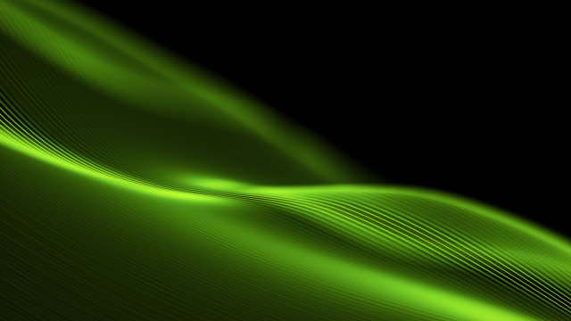 4k beautiful waving lines background (green) - loopable - green background stock videos & royalty-free footage