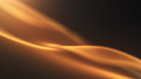 4k beautiful waving lines background (gold) - loopable - award stock videos & royalty-free footage