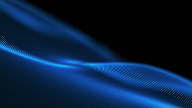 4k beautiful waving lines background (blue) - loopable - man made object stock videos & royalty-free footage