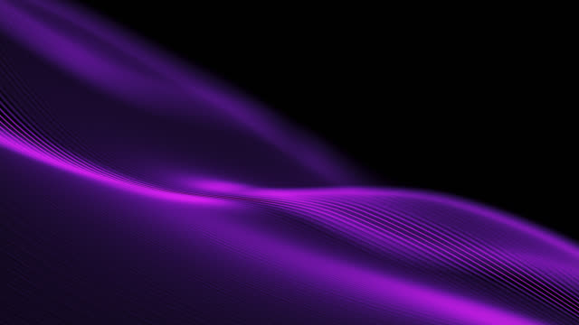 vídeos de stock e filmes b-roll de 4k beautiful waving lines background (purple) - loopable - purple
