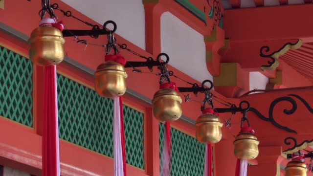 4k: bell temple - shrine stock videos & royalty-free footage