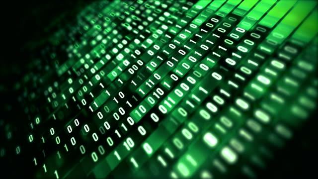4 k binär kod loop (grön): dataöverföring, ai, cloud computing - binär kod bildbanksvideor och videomaterial från bakom kulisserna